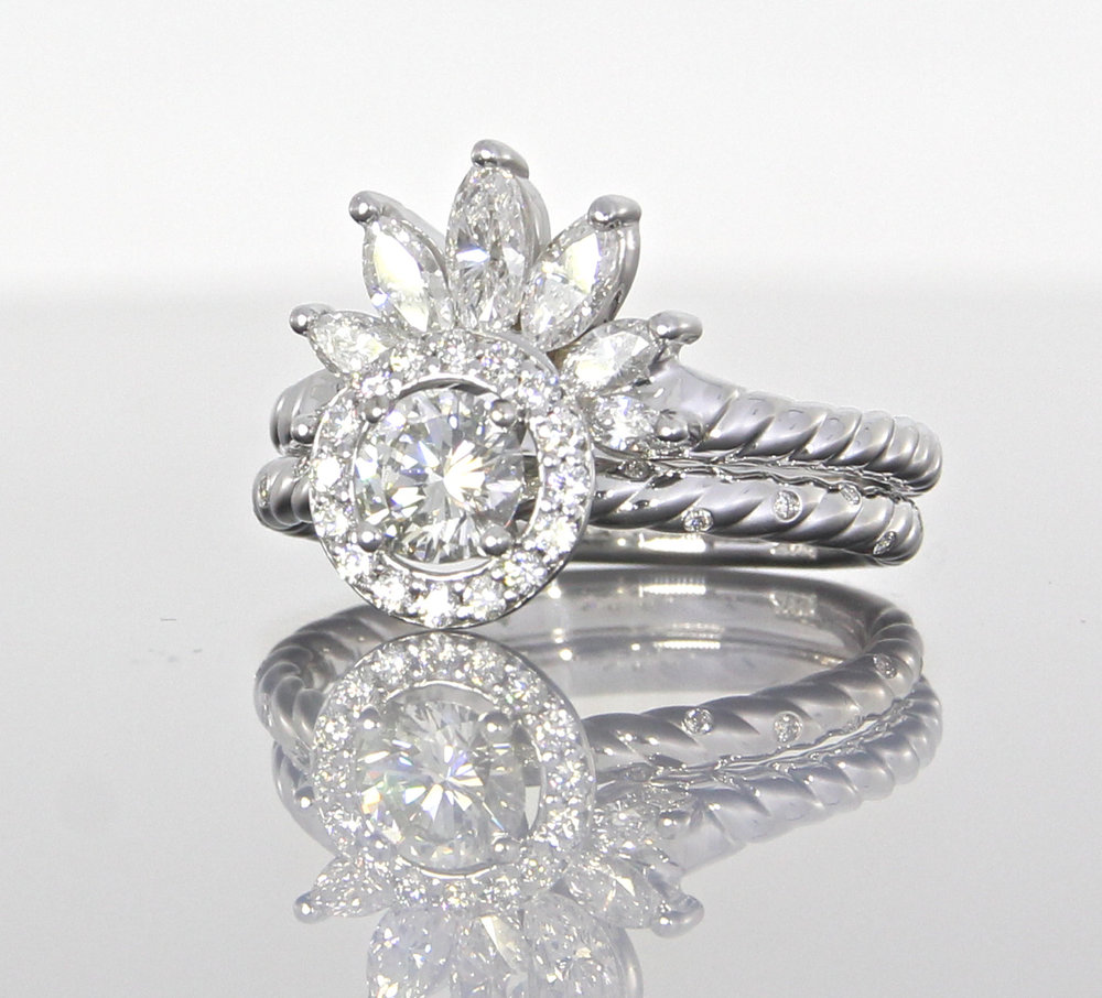 side-view-unique-round-diamond-halo-marquise-band-engagement-ring-craft-revival-jewelry-store-grand-rapids