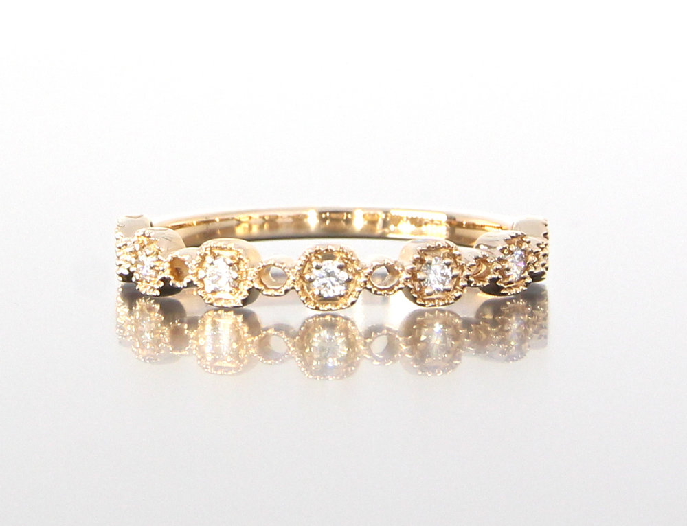 ladies-unique-diamond-yellow-gold-delicate-wedding-band-craft-revival-jewelry-store-grand-rapids