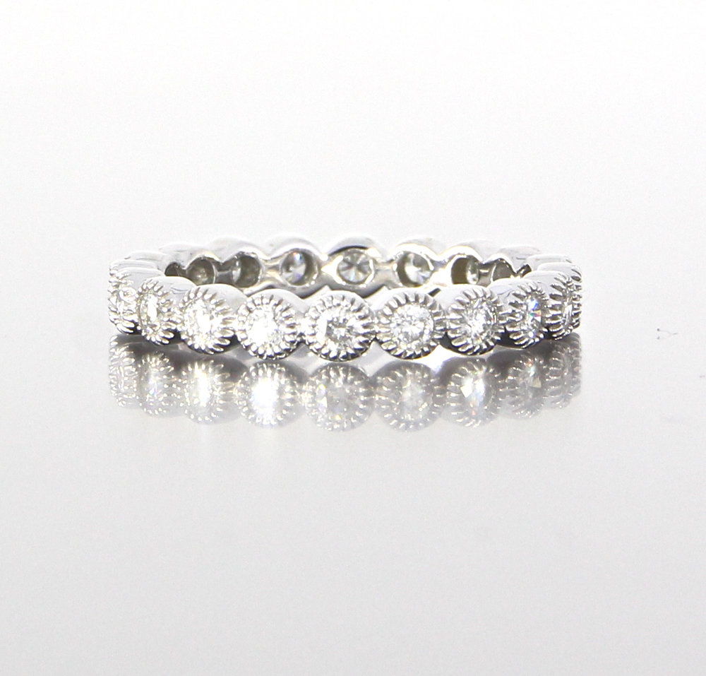 unique-ladies-white-gold-band-delicate-dainty-simple-round-diamond-vintage-ladies-wedding-eternity-style-band-craft-revival-jewelry-store-grand-rapids