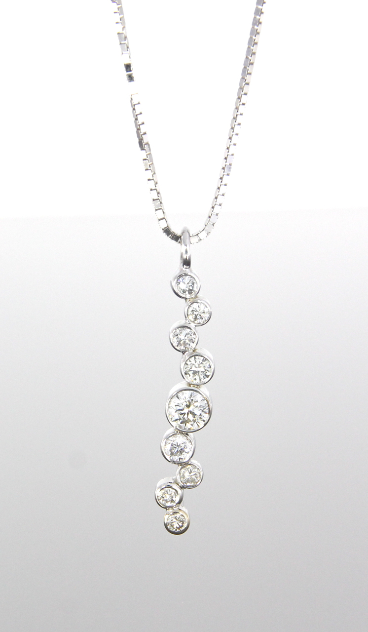 unique-diamond-cluster-bezel-set-diamond-pendant-craft-revival-jewelry-store-grand-rapids