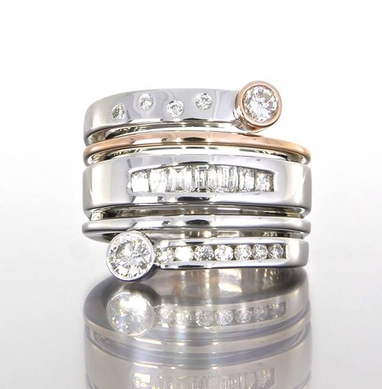 unique-custom-multi-stacker-wedding-band-diamond-princess-round-cut-craft-revival-jewelry-store-grand-rapids