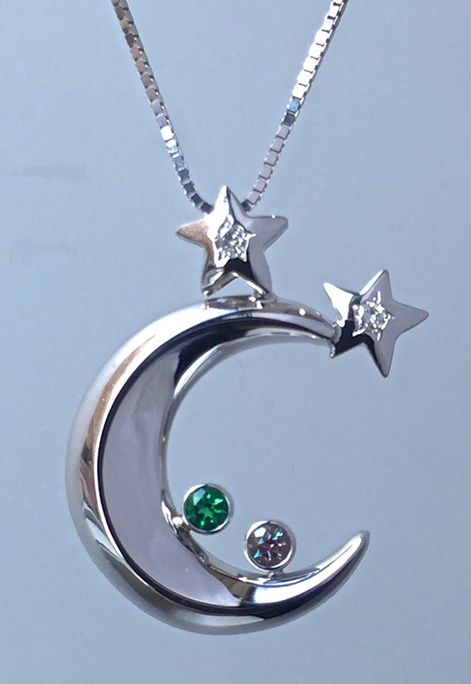 unique-custom-crescant-moon-pendant-white-gold-emerald-diamond-pendant-craft-revival-jewelry-store-grand-rapids