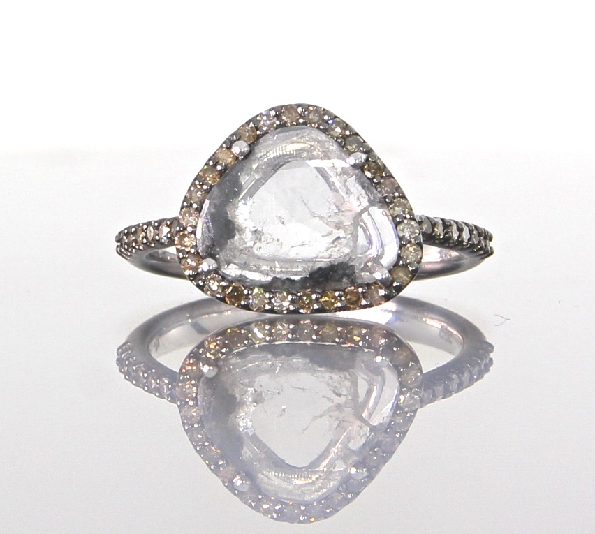 unique-ladies-white-gold-diamond-slice-raw-diamond-halo-engagement-ring-craft-revival-jewelry-store