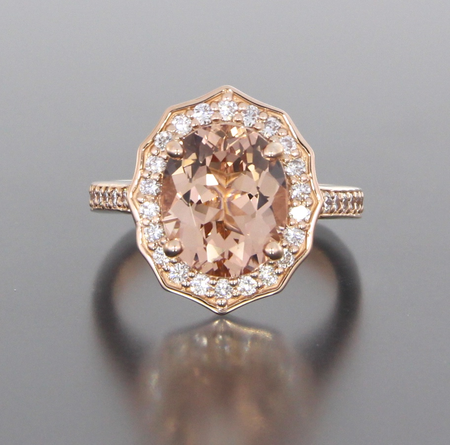 unique-halo-oval-morganite-delicate-diamond-halo-engagement-ring-craft-revival-jewelry-store-grand-rapids