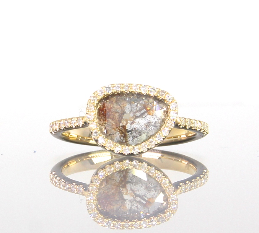 unique-ladies-yellow-gold-natural-diamond-slice-raw-diamond-halo-engagement-ring-craft-revival-jewelry-store