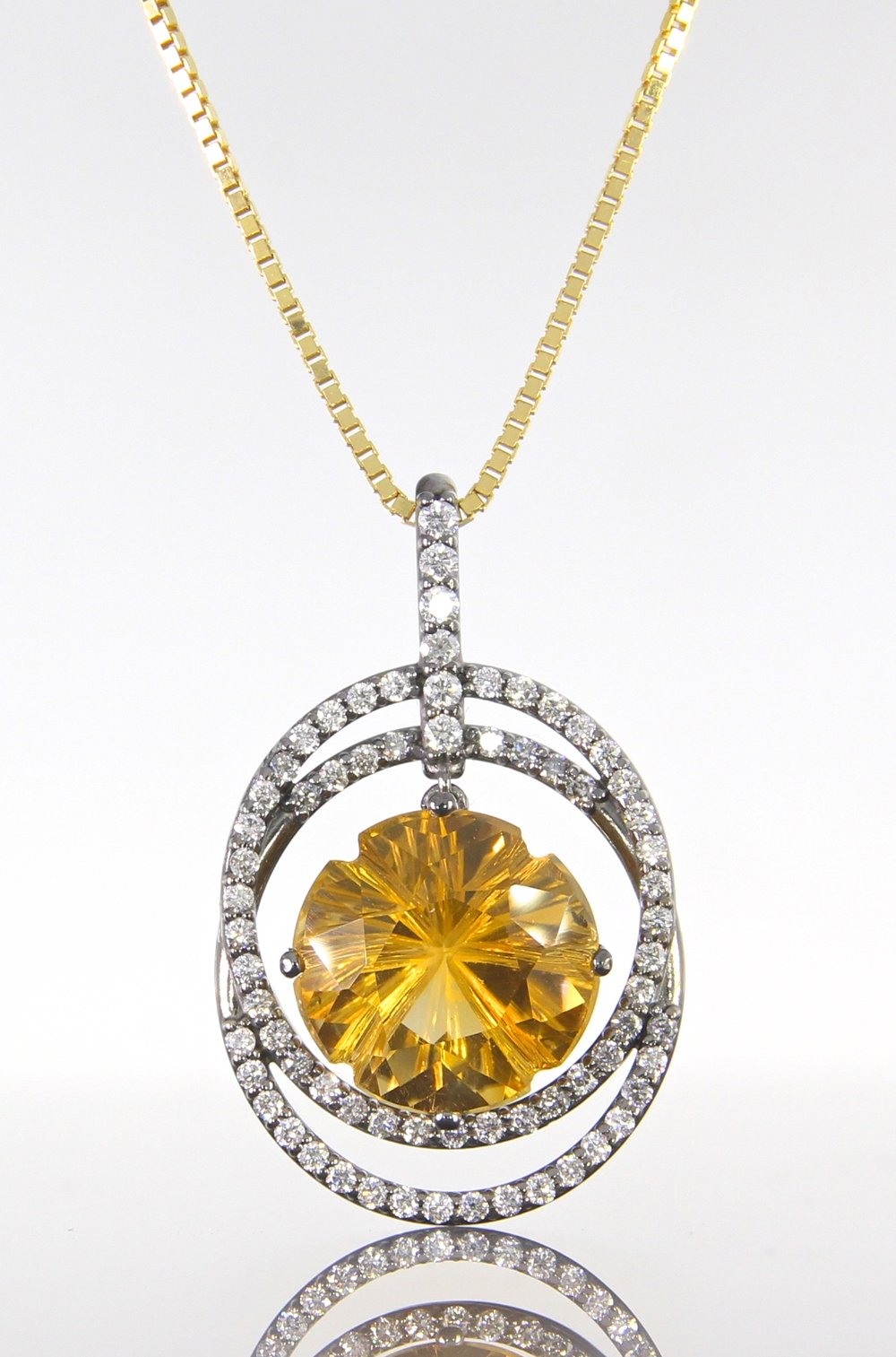 unique-double-diamond-halo-citrine-stone-pendant-craft-revival-jewelry-store-grand-rapids