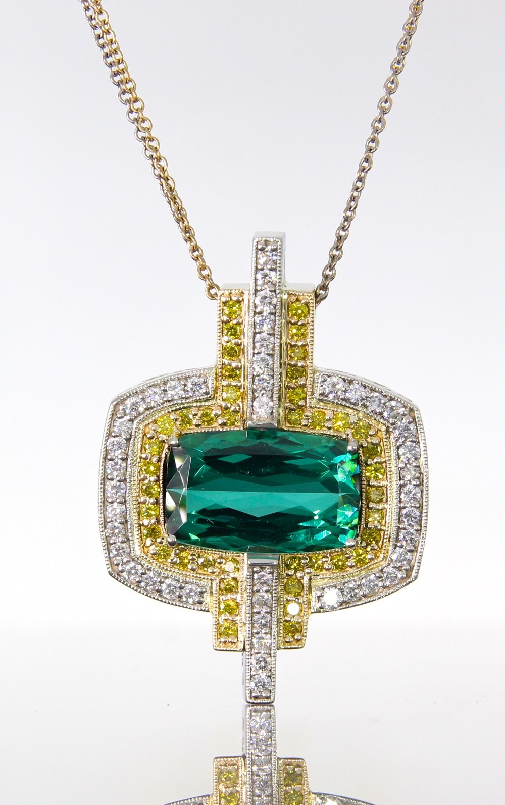 unique-custom-tourmaline-stone-yellow-white-diamonds-art-deco-style-pendant-craft-revival-jewelry-store-grand-rapids