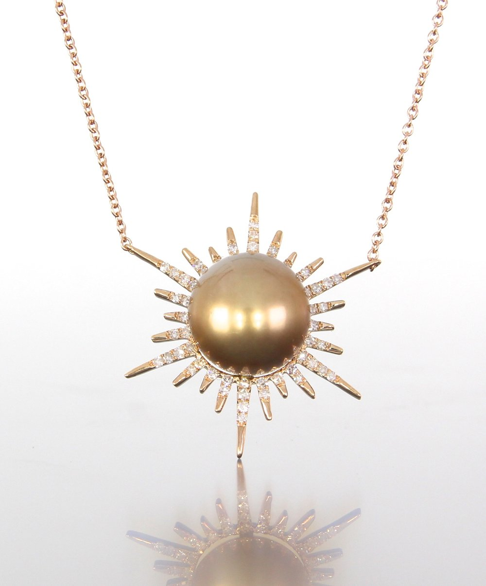 unique-rose-gold-sun-pendant-unique-pearl-jewelry-diamond-accents-craft-revival-jewelry-store-grand-rapids