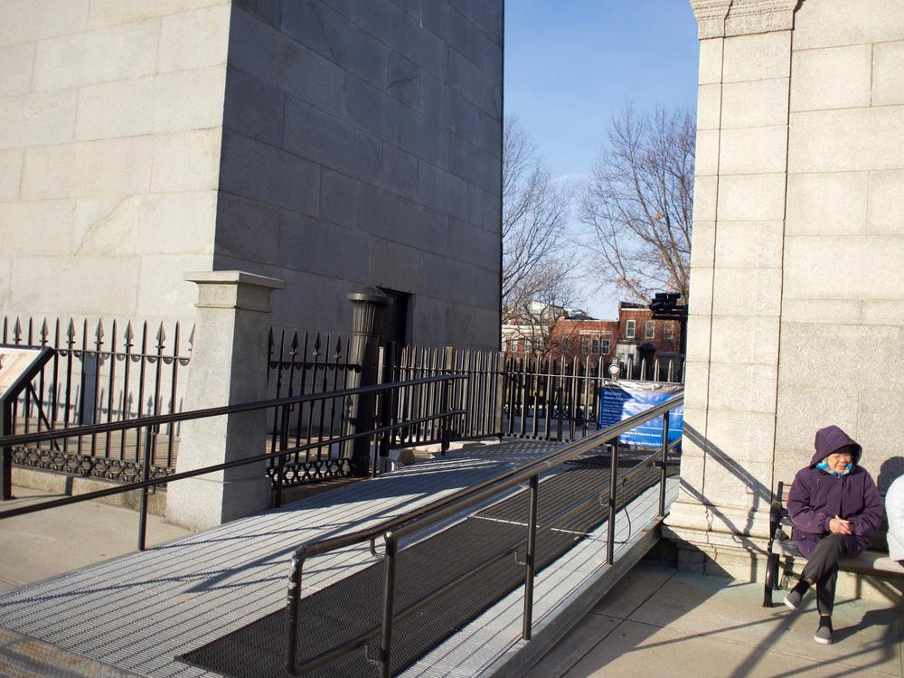 IRL Exhibit Lodge SW Corner and Monument