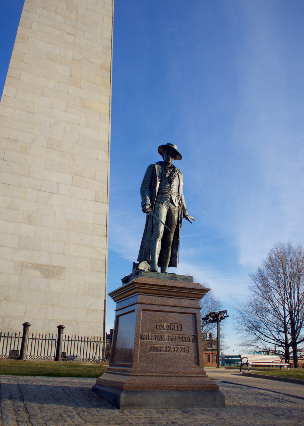 IRL Col. Prescott Statue from South Side Main Entrance