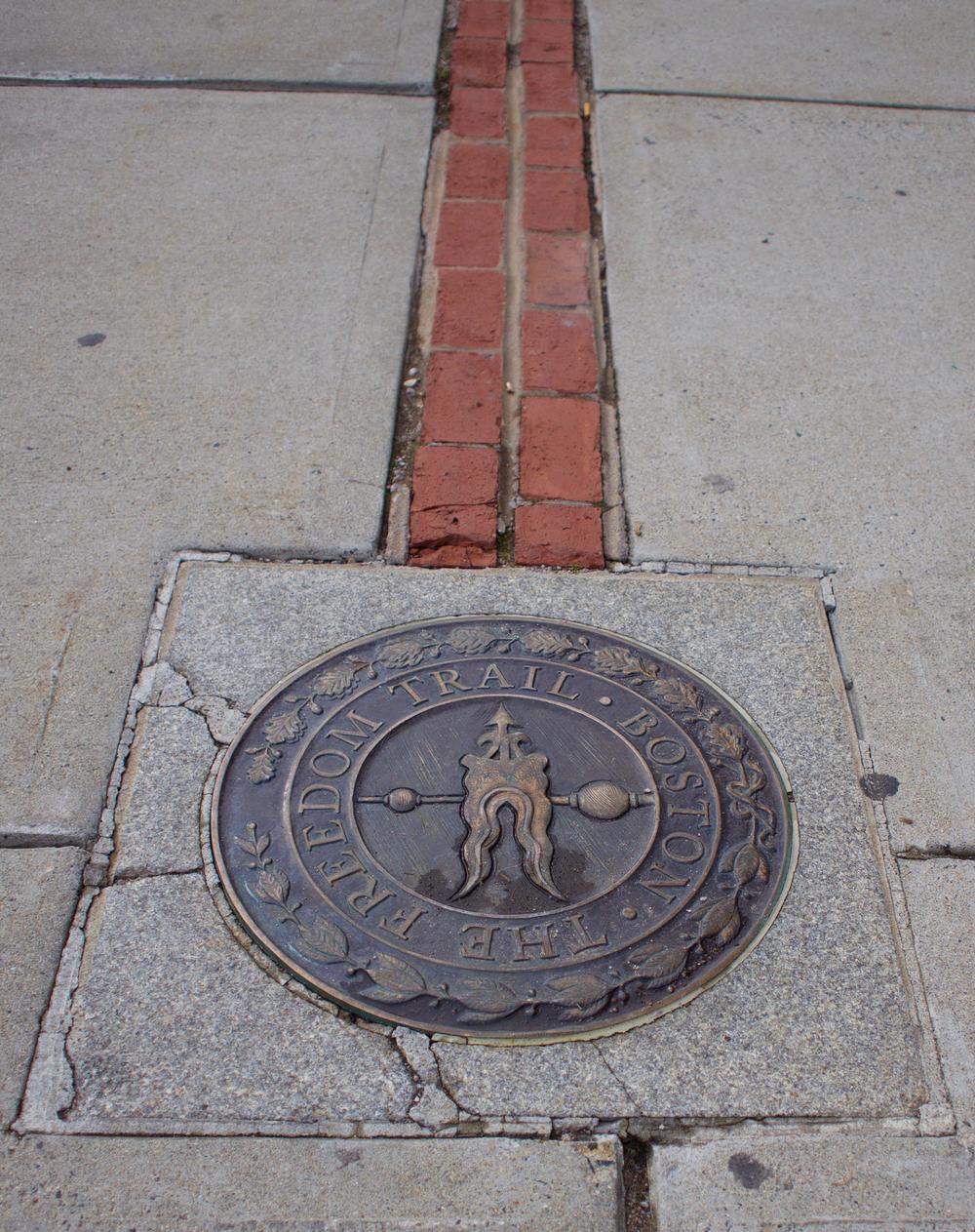 IRL Freedom Trailhead Marker