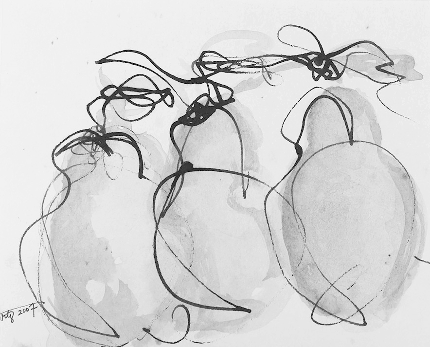Pears at Attention