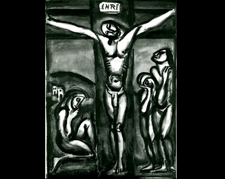 Sous Un Jésus En Croix Oublié Là - George Rouault