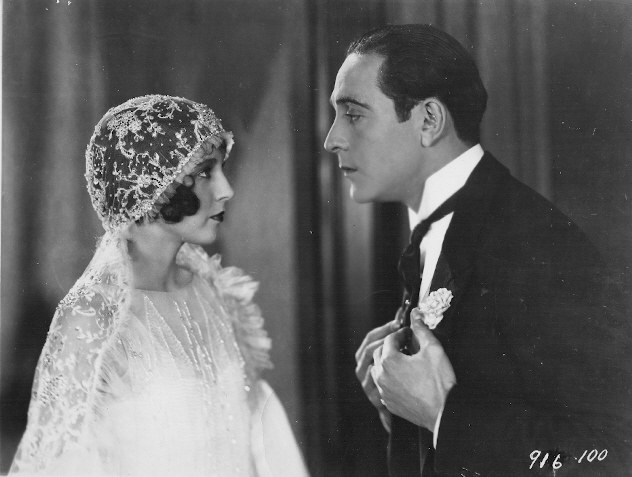 Betty Bronson and Ricardo Cortez from the silent film The Cat's Pajamas (1926)