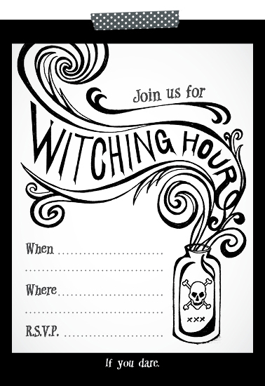 Free Printable Halloween Party Invite Hennel Paper Co
