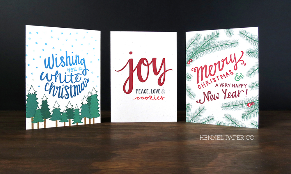 Joy peace love holiday cards hennel paper co joy peace love holiday cards m4hsunfo