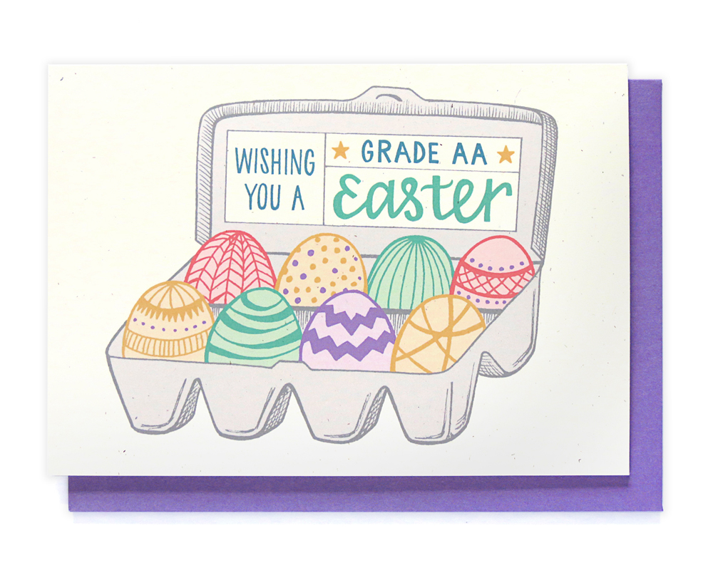 grade aa easter card - hennel paper co.