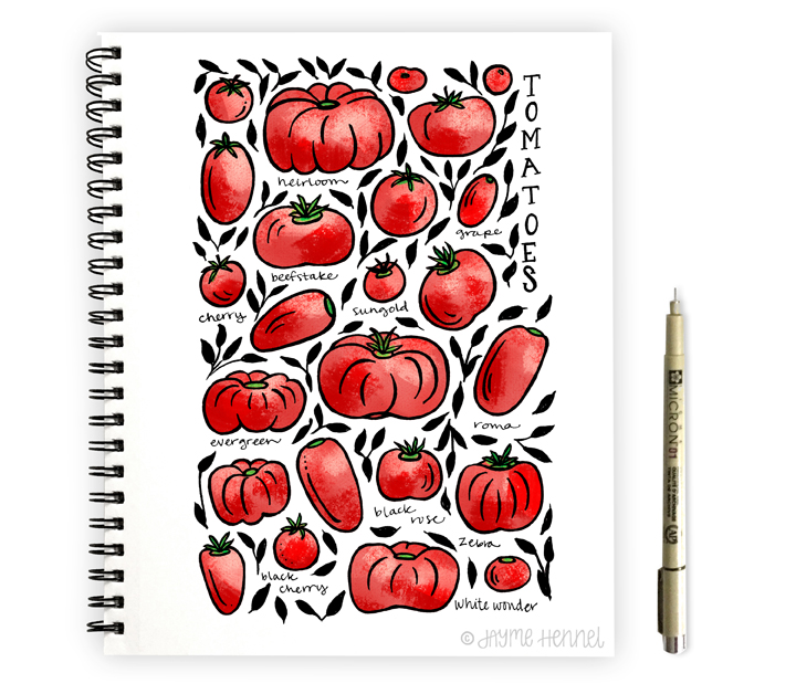tomatoes hennel paper co