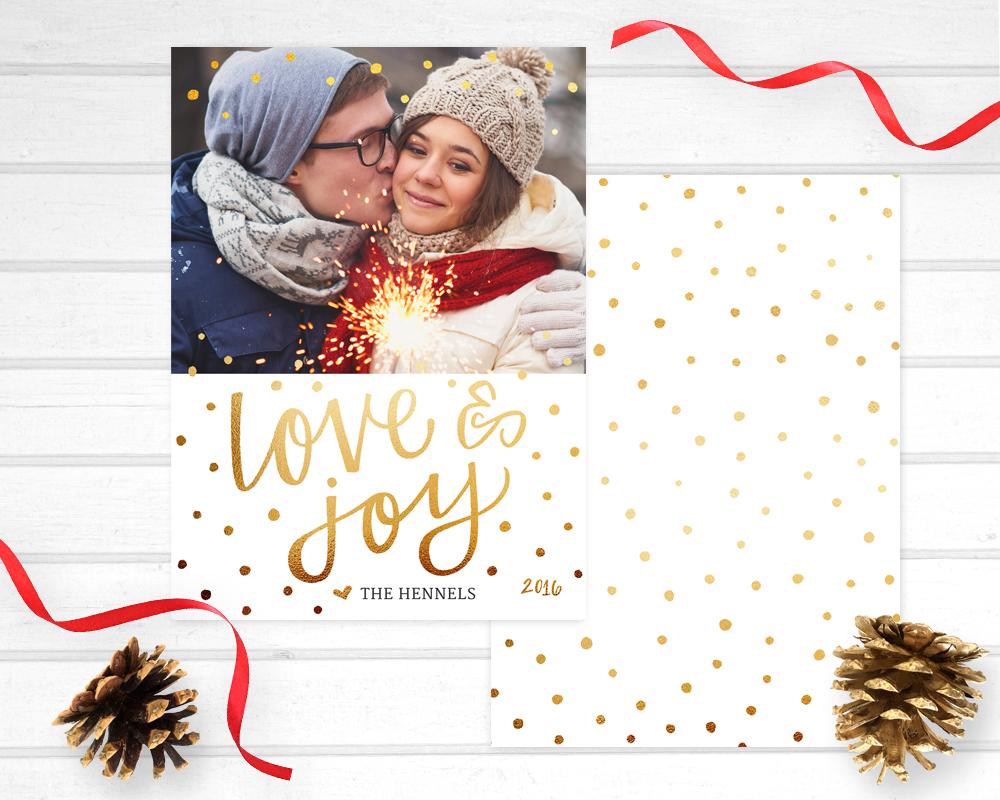 love and joy photo card