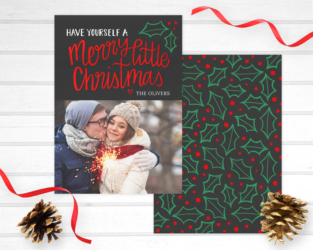 merry little christmas photo cards