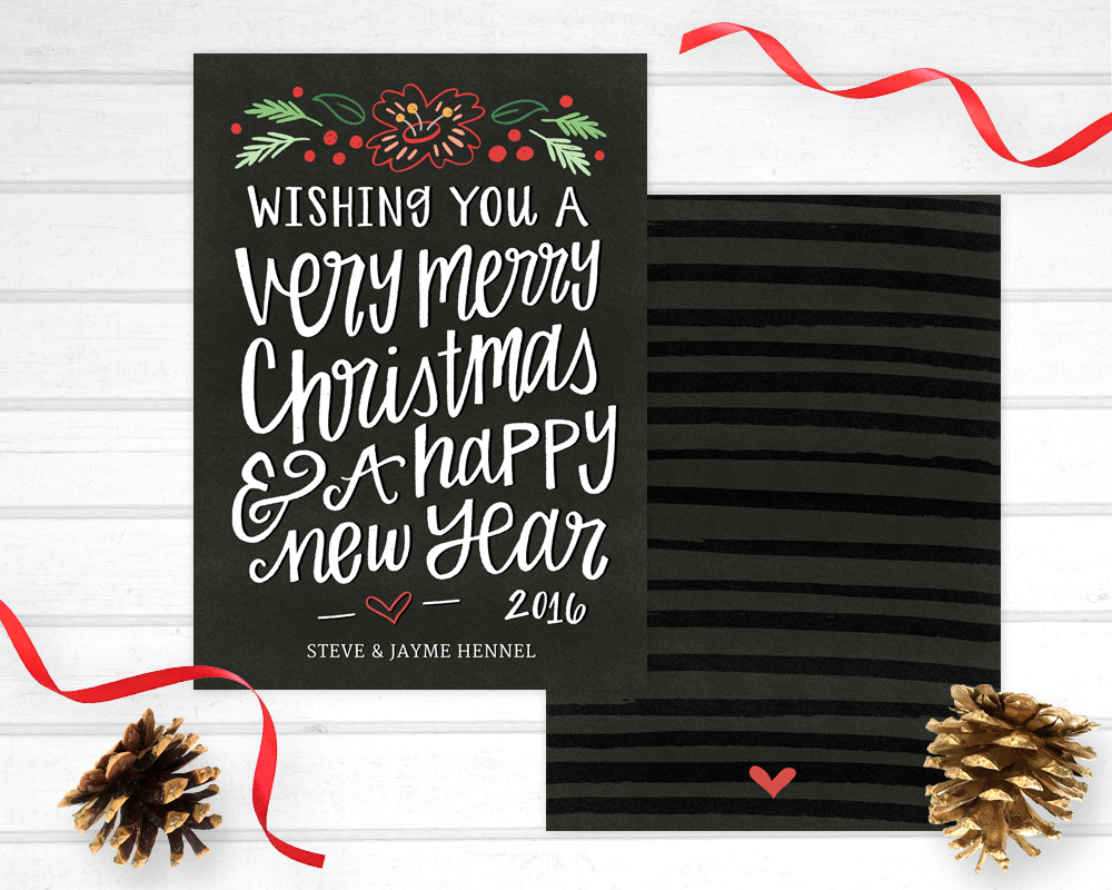 personalized holiday photo card