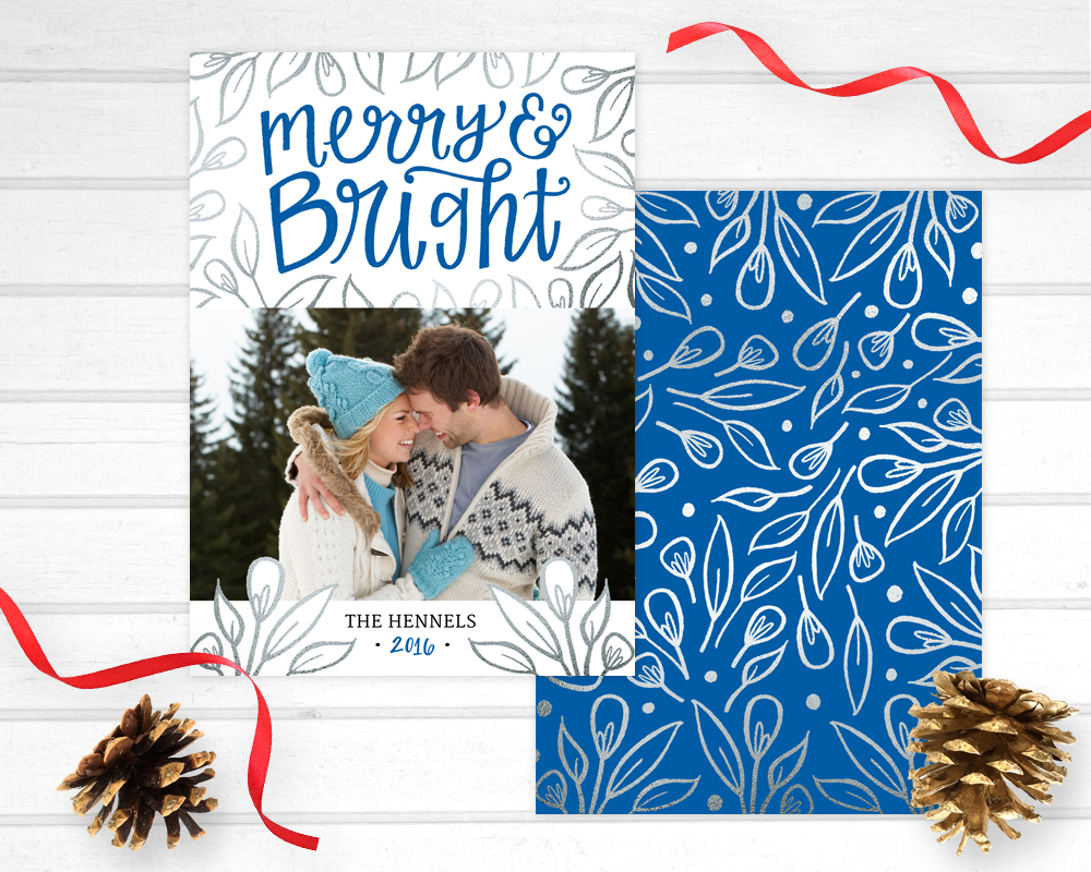 hennel paper co holiday photo card