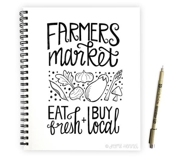 Farmers Market ©Jayme Hennel - Hennel Paper Co.