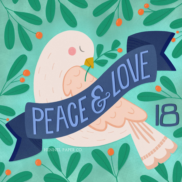 Peace and Love - © Hennel Paper Co.
