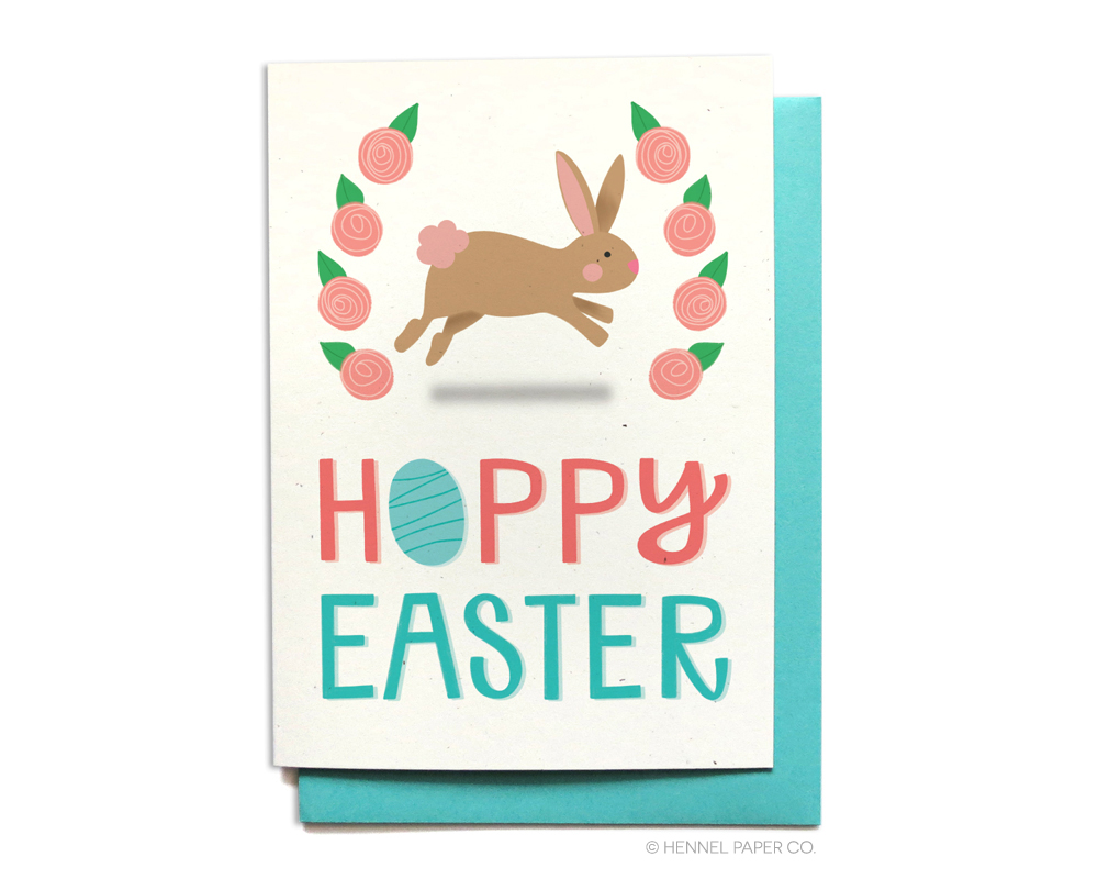 Hoppy Easter ©Hennel Paper Co. Easter Card