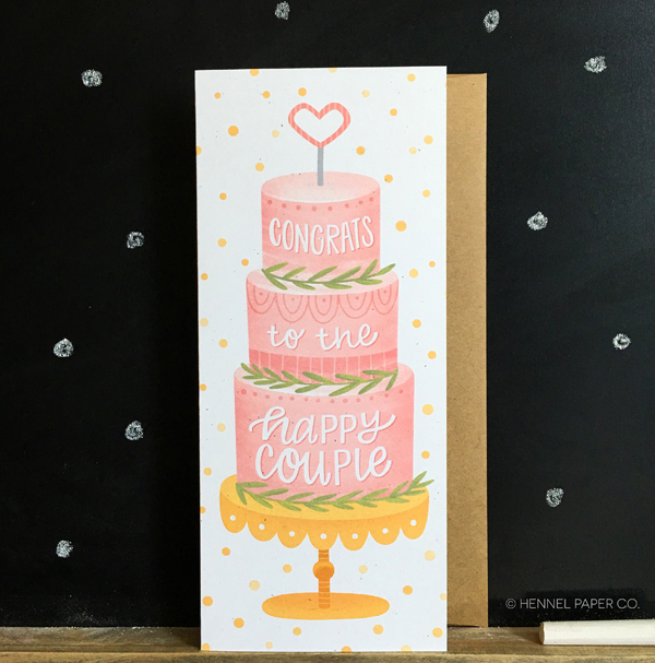 wedding cake card - hennel paper co.jpg