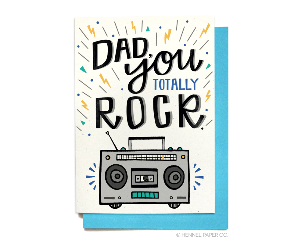 Father's Day Card - You Rock - Hennel Paper Co.