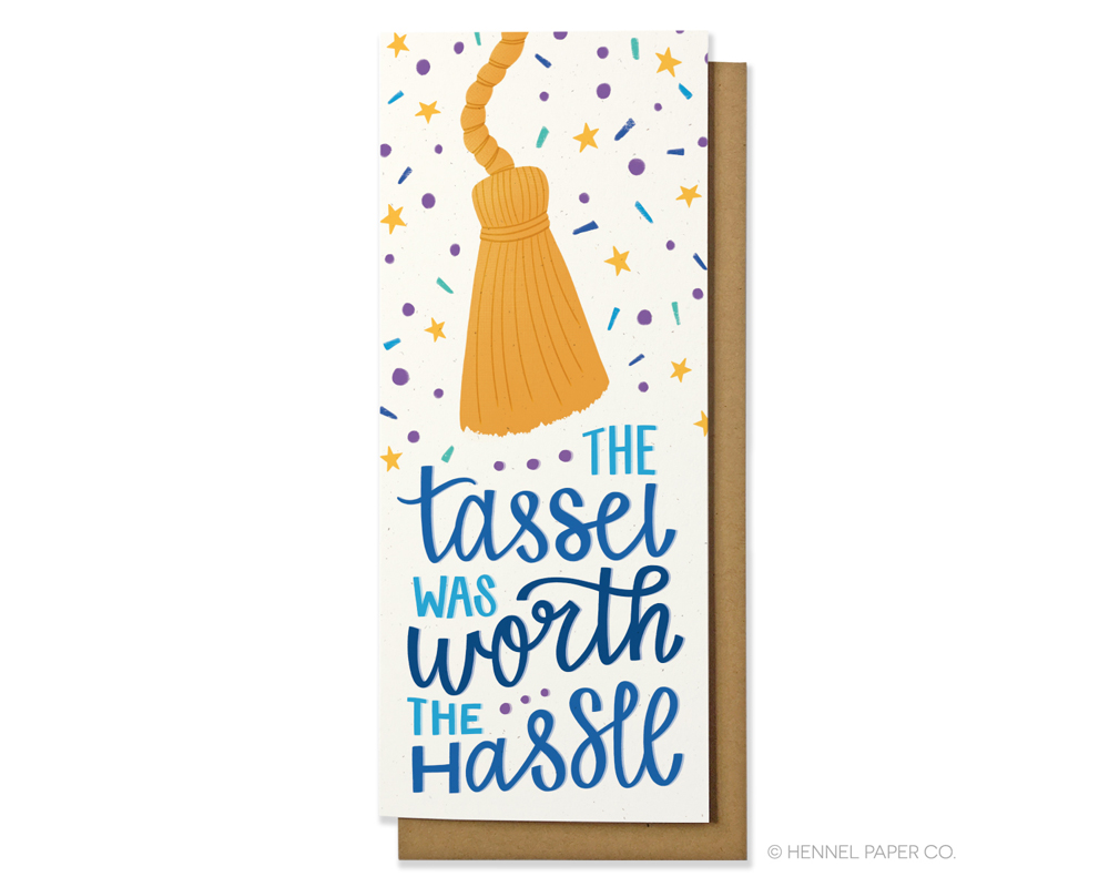 Graduation money card- tassel - hennel paper co.