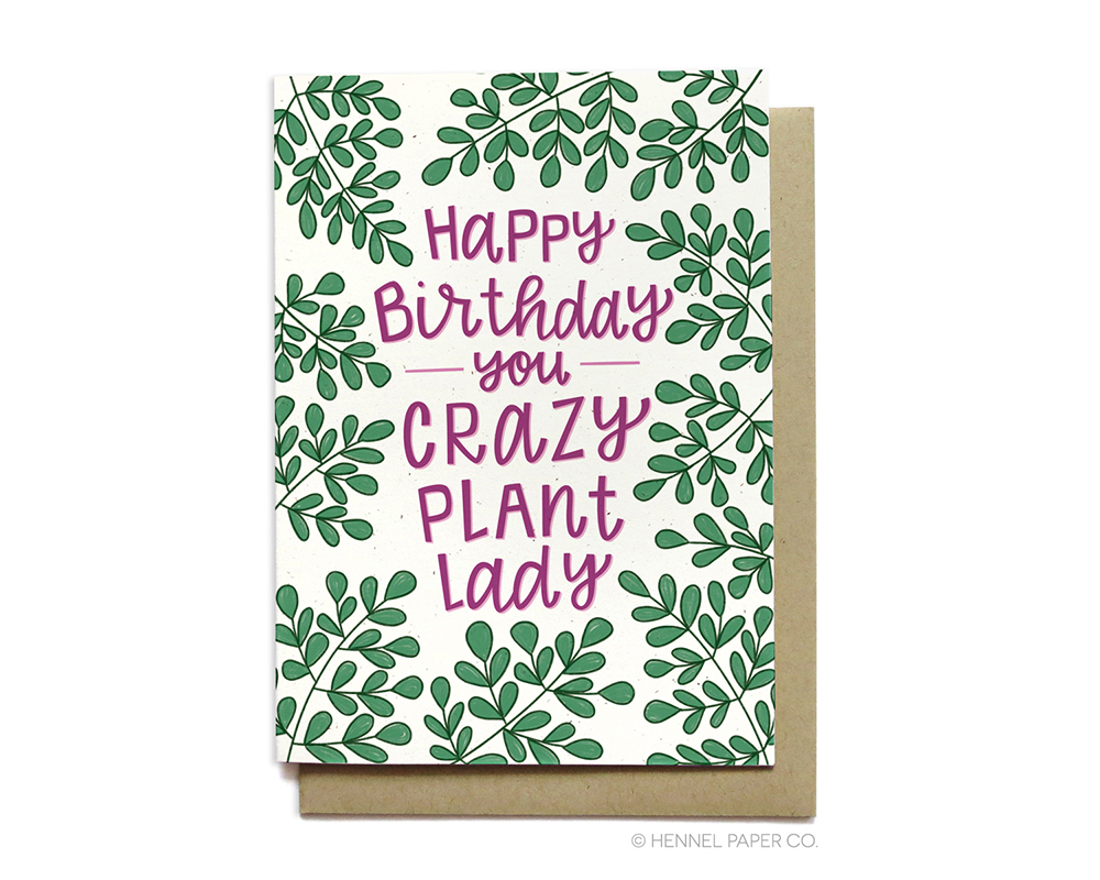 Plant Lady Birthday Card