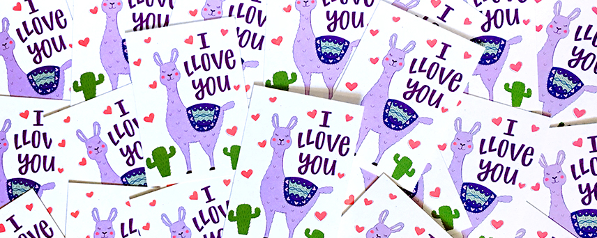 Llama love card - ©Hennel Paper Co.