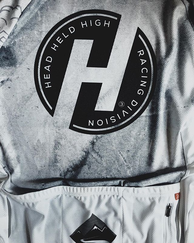 Our Cycling Jersey - still available at headheldhighbrand.com. Follow @headheldhighracing #stayup #headheldhigh #headheldhighbrand #kitwatch #cycling #cyclingkit 🚴🚴‍♀️