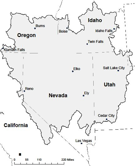 The Great basin Fire Science Exchange includes portions of six western states.