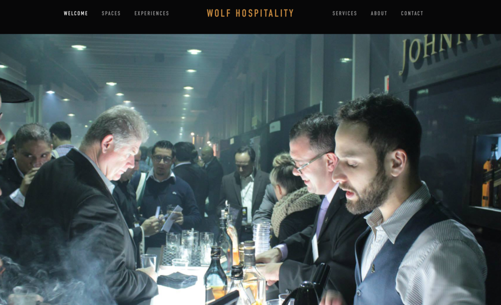 WOLFHOSPITALITY.COM   - web development  - design  - logo  - copy