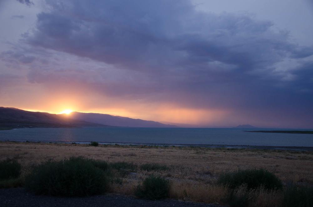 Sunset storm...
