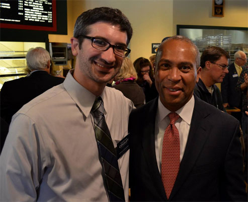 Bryan with Governor Deval Patrick during Campaign 2014.