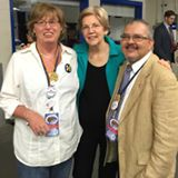 Holly Ryan with Senator Elizabeth Warren.