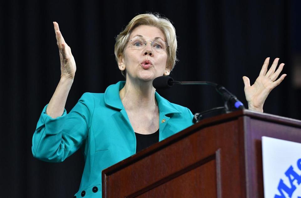 Senator Warren at last year's MA Democratic State Convention.
