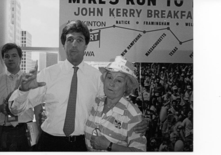John Kerry with Peg Hannigan.