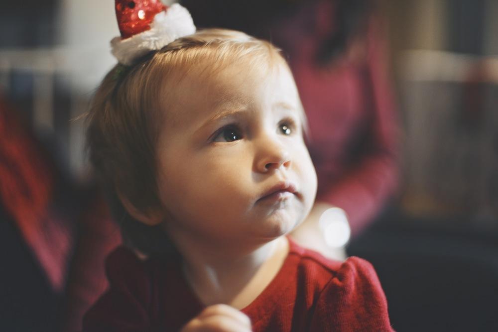 Lila on Christmas eve.