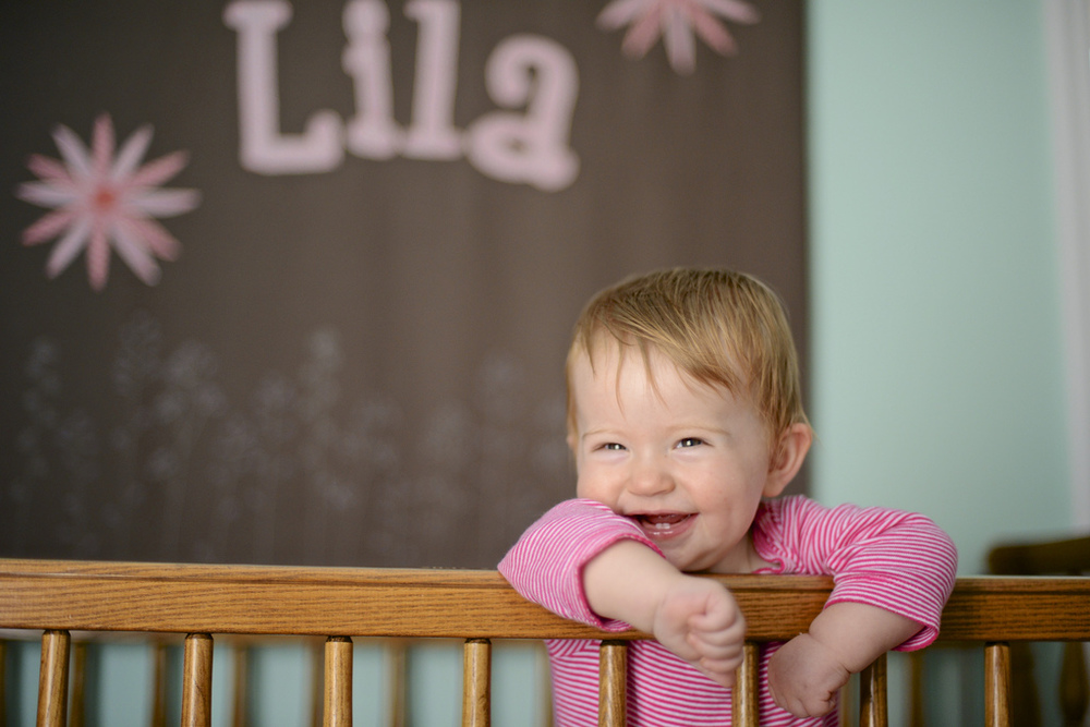 Lila in her bedroom