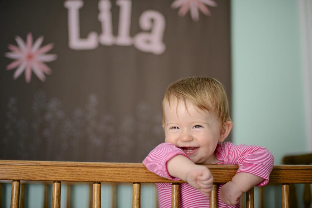 Lila in her bedroom