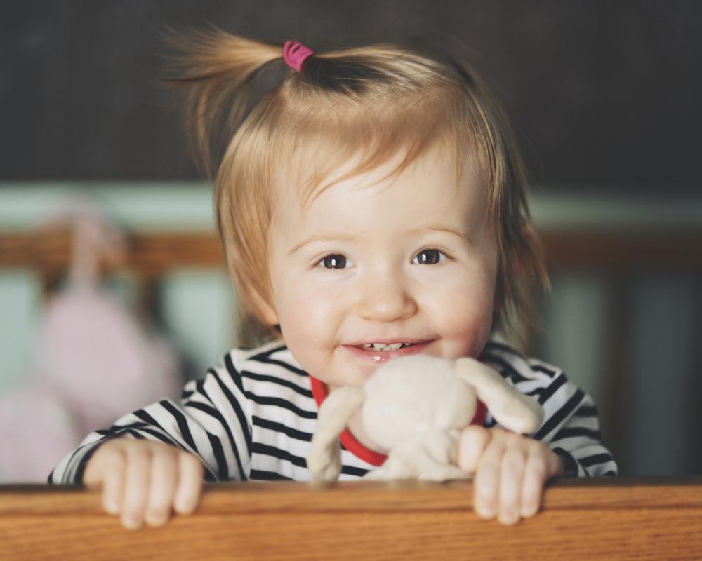 Lila, Age 1 - Week 8.