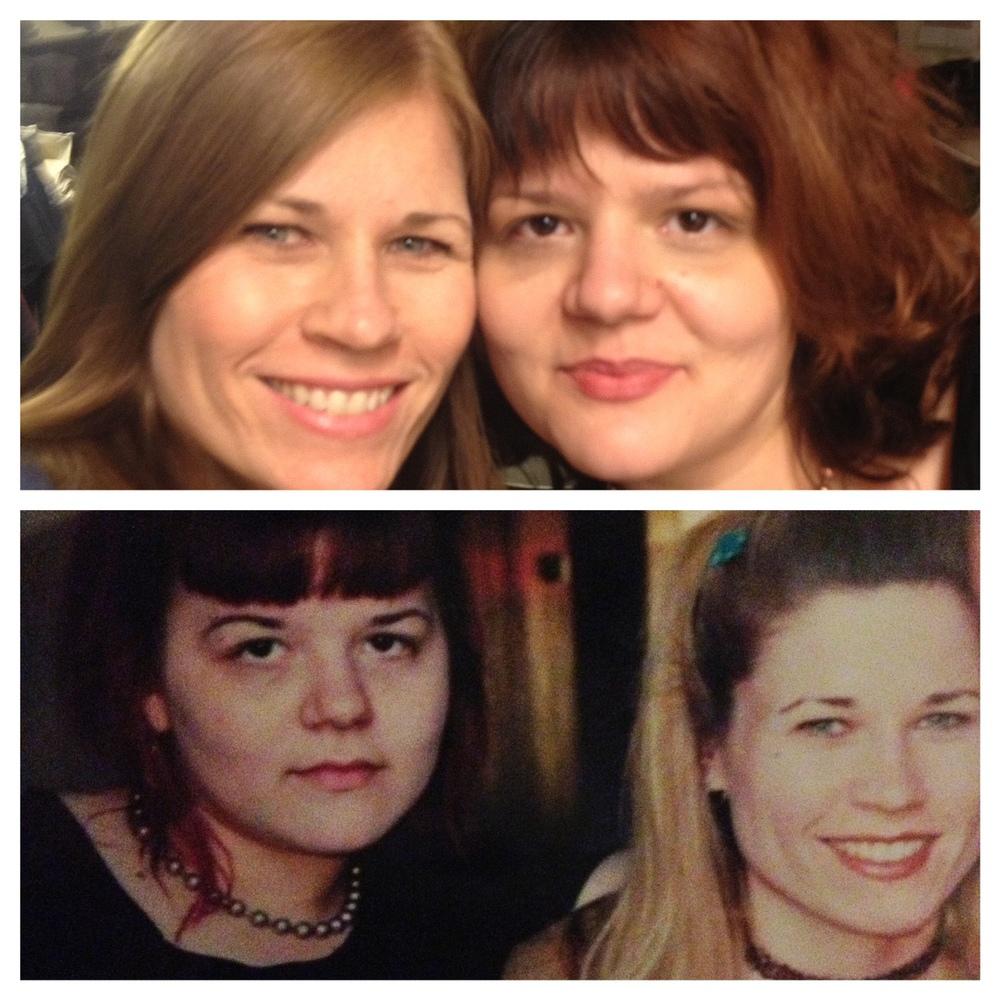 Top photo - 2013, Bottom photo - 1999