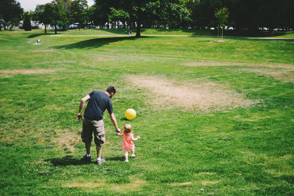 Lila and Daddy at the park.