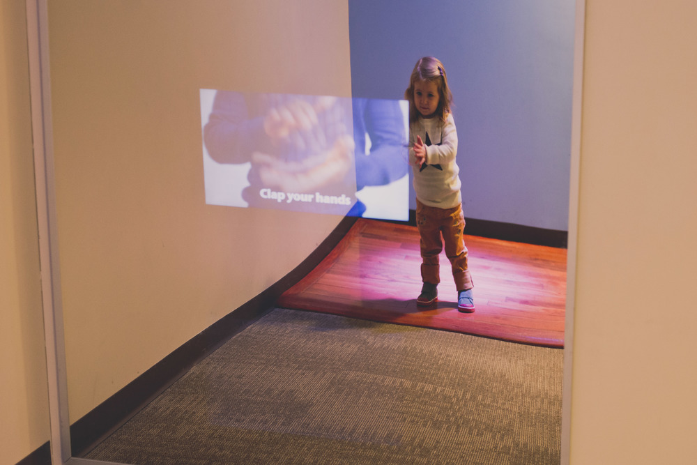 Lila loved this video installation that instructed you to clap, whistle and stomp your feet.