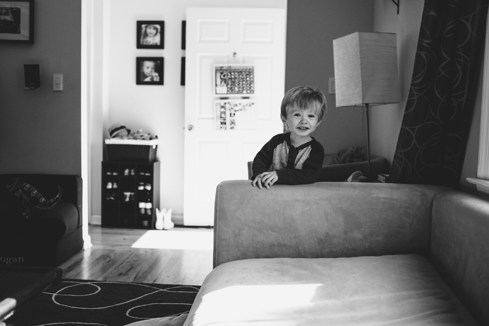Little boy on couch | Francesca Russell Photography & Films | Garden City Family Photographer